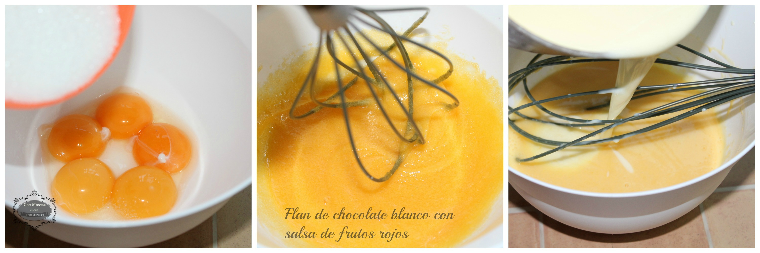 Flan de chocolate blanco 2