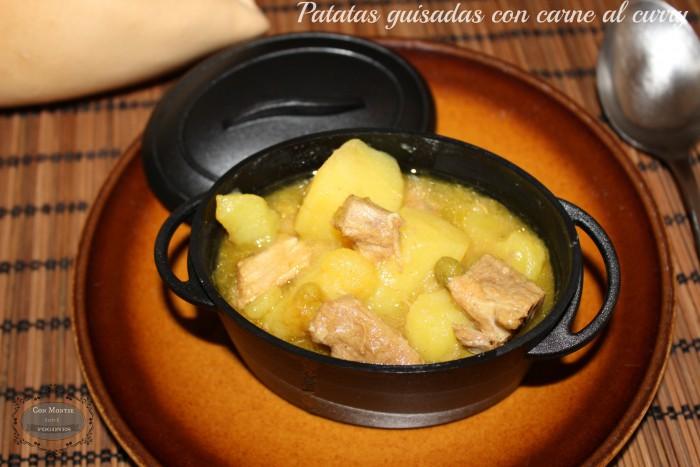 Patatas guisadas con carne al curry 5