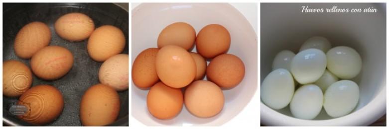 Huevo rellenos con atún